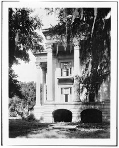 West corner of portico at Belle Grove plantation near White Castle Louisiana :: State Library of Louisiana Historic Phot… – architecture Old Southern Homes, Southern Plantation Homes, Plantation Houses, Southern Comfort, Southern Charm, Southern Mansions, Southern Gothic, Southern Living, Southern Style