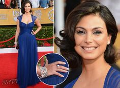 Stunning Morena Baccarin wearing beautiful Hearts On Fire diamond jewellery. 20th Annual Screen Actors Guild Awards - January 18, 2014.
