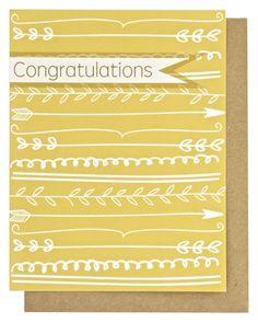 Say Congratulations in style by Phranzia Print Lab