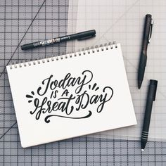 Today is a Great Day - brush lettering by Wink & Wonder