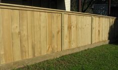 Paling fence with machined corners on posts, rails, palings and capping. Gives a very tidy looking fence.