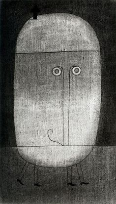 Mask of Fear de Paul Klee (1879-1940, Switzerland)