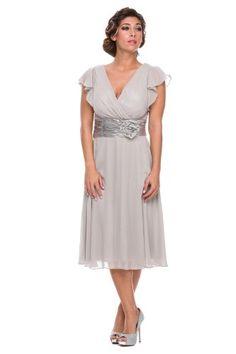 Short, chiffon mother of the bride gown 5053NX-SILVER-M NariaNNa http://www.amazon.com/dp/B00JCZHL5G/ref=cm_sw_r_pi_dp_RSmaub0FVBSAB