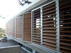Celosía con lamas de aluminio / de madera / de material compuesto / de PVC DUTEC 145s Durmi