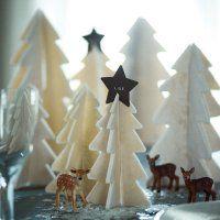 Décoration de Noël : marque-place sapins en pâte à sel - Marie Claire Idées