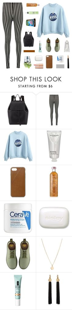 """""""paige's 100 follower set challenge / day 2"""" by milkshakes-and-dogs ❤ liked on Polyvore featuring Mansur Gavriel, African Botanics, Native Union, Fresh, CeraVe, Sisley, Dr. Martens, Laura Lee, Clinique and CO"""