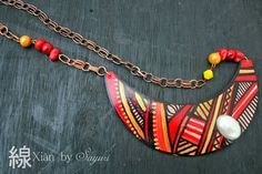 Xian - collection of hand painted Leather jewlery