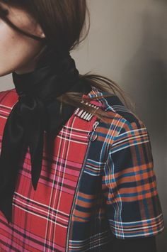 Tartan #backstage at House of Holland AW15 #LFW