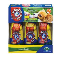 PetSafe Lickety Stik Low-Calorie Liquid Dog Treat, 3-Pack Chicken/Bacon/Peanut Butter -- Want additional info? Click on the image.