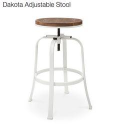 white dakota adjustable stool from target