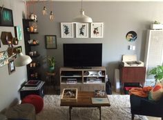 "Before & After: Angel's ""Geek Chic"" Living Room — The Big Reveal Room Makeover Contest 2015 