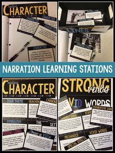 Narrative and creative writing: try this pack of learning stations that focus on the elements of good writing.