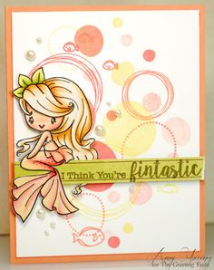 A thousand sheets of paper: Fintastic...made with The Greeting Farm Maisea mermaid stamp