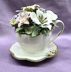 Flower Teacup Music Box #80002