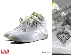 Reebok has teamed with Marvel to release some awesome limited edition shoes. /// Emma Frost