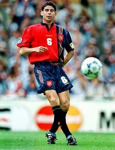 Fernando Hierro of Spain in action at Euro '96.