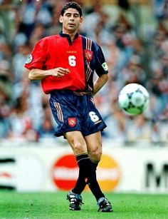 Fernando Hierro of Spain in action at Euro '96.