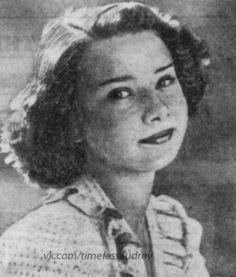 Audrey Hepburn at age thirteen-fourteen