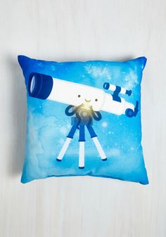 Stargaze on End Pillow. After laying a blanket on the lawn, you rest your head against this brilliant blue pillow and watch the infinite swirl of celestial bodies above you. #blue #modcloth