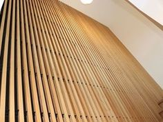 Fin Profile: A prefinished system for architectural timber walls, ceilings and screens | Architecture & Design Timber Ceiling, Timber Walls, Ceilings, Screens, Architecture Design, Profile, Building, Wood, Outdoor Decor