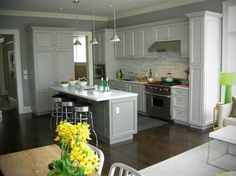 White And Grey Kitchen Design Ideas, Pictures, Remodel, and Decor - page 5