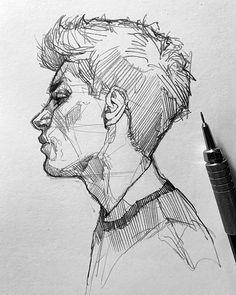Karakalem al malar R dvan CAN G rsel Sanatlar retmeni Resim retmeni Grafiker - Pencil Art Drawings, Art Drawings Sketches, Drawing Faces, Drawing Drawing, Desenho Jack Frost, Art Du Croquis, Arte Sketchbook, Portrait Sketches, Drawing People