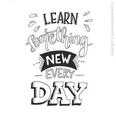 Handlettering: learn something new Lettering Brush, Hand Lettering Quotes, Calligraphy Quotes, Creative Lettering, Calligraphy Letters, Typography Quotes, Typography Letters, Caligraphy, Doodle Quotes
