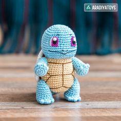 "Squirtle (""Pokemon"") Amigurumi Pattern"