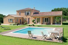 contemporary mediterranean homes Modern Villa Design, Retreat House, Farmhouse Renovation, Backyard Pool Designs, Mediterranean Homes, Villas, Planer, Beautiful Homes, Building A House