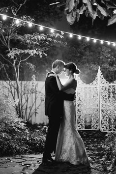 Even this black and white photograph captures the romantic atmosphere of this southern garden wedding at CJ's Off the Square in Franklin, TN  #southernwedding #nashvillewedding #cjsoffthesquare