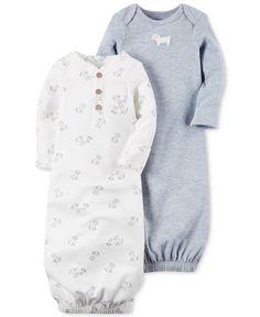 8661b5a576da Carter's 2-Pk. Puppy Sleeper Gowns, Baby Boys Kids - Pajamas - Macy's