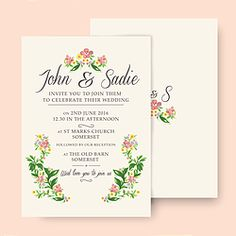 DOUBLE-SIDED BOHEMIA INVITATION CL.AM CORRESPONDENCE http://www.cl-am.com