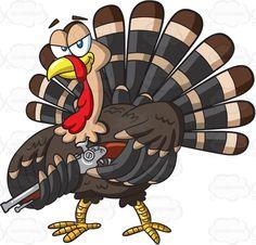 A turkey with a gun Thanksgiving Wood Crafts, Thanksgiving Decorations, Happy Thanksgiving, Turkey Cartoon, Cartoon Art, Inkscape Tutorials, Cute Animal Drawings, Stock Art, Pattern Art