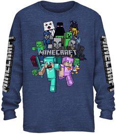 b58965bea65 Boys Crew Neck Long Sleeve Minecraft Graphic T-Shirt Preschool / Big Kid -  JCPenney
