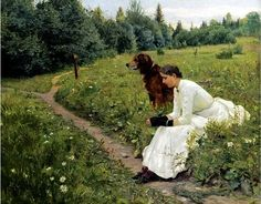 Munthe, Gerhard (1849-1929) - 1886 Idyll (Sotheby's London, 2010) | Flickr - Photo Sharing!