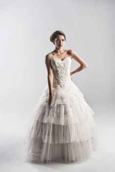Lace and Tulle Strapless Wedding Dress in by StaysiLeeCouture, $3995.00