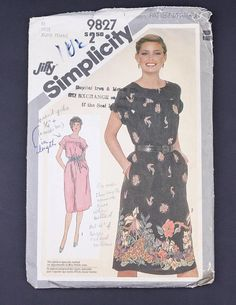 80's Sewing pattern in my Etsy shop https://www.etsy.com/ca/listing/566727062/80s-simplicity-sewing-pattern-9827-1980