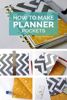 How to Make Planner Pockets | Planner pockets are great for storing stickers, receipts, photos, cards + more. It's simple + easy to make planner pockets - follow these 7 simple steps. Bonus Tip: Punching multiple holes with a 2 hole punch.