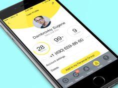 Dashboard Web App designed by Nikolay Apostol. Cv Website, Profile Website, Website Ideas, Profile App, Profile View, Mobile Application Design, Mobile Ui Design, Motion Design, Design Thinking