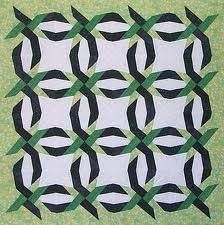 Cool Paper Panache paper piecing patterns for quiltmakers Woven Double Wedding Ring Quilt Pattern