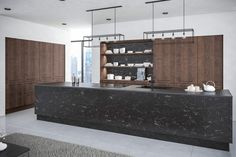 Make a statement and add that extra wow factor to your home with our Oriental Black and Gladstone Tobacco Oak kitchen. Together, these dark colours work hand in hand to produce a contemporary kitchen design that emits a warm atmosphere. Replacement Kitchen Cabinet Doors, Kitchen Doors, White Kitchen Cabinets, Brown Kitchen Inspiration, Best Hacks, European Kitchens, Brown Kitchens, Kitchens And Bedrooms, Contemporary Kitchen Design