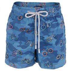 Zeybra Blue Camo Bicycle Swim Shorts at alexandalexa.com