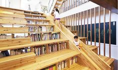 bookshelf stair