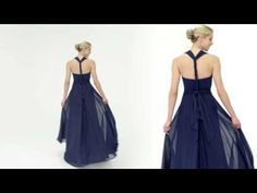 VIDEO: The Convertible Bridesmaid Dress: Alfred Angelo Style 7395L. One dress with endless options!