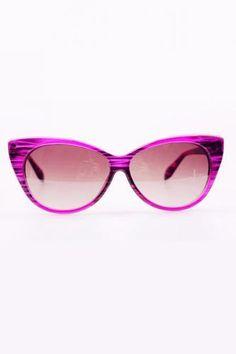 Wood Pattern Cat Eye Sunglasses