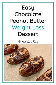 Easy Chocolate Peanut Butter Weight Loss Dessert | 3 ingredient easy recipe to squash a sugar craving with No added sugar! | Each serving is 92 calories and you can't over eat it because it has built in portion control| Chewy and satisfying from fiber. | Healthy recipe to fuel your flat-belly workout. #Glutenfreerecipe #healthychocolaterecipe For MORE RECIPES, fitness & nutrition tips please SIGN UP for our FREE NEWSLETTER www.NutritionTwins.com Raw Chocolate, Chocolate Peanuts, Chocolate Peanut Butter, Healthy Appetizers, Healthy Snacks, Healthy Recipes, Raw Cacao Nibs, Nutrition Tips, Fitness Nutrition