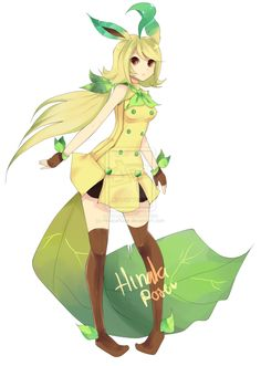 leafeon gijinka male - Google Search