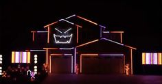 Check out this great #Halloween lights display set to the #Ghostbusters theme song!