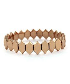 Another great find on #zulily! Rose Gold Geometric Stretch Bracelet #zulilyfinds