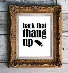 Geekery Back that Thang Up Print by stellagirl on Etsy, $17.00